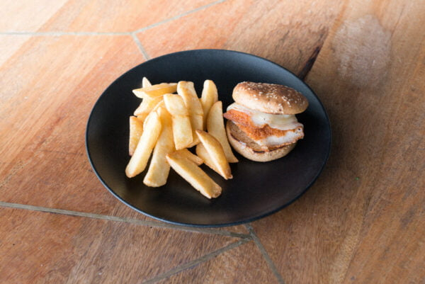 Mini Chicken Burger with fries